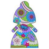 Silhueta simples da noiva pintada colorida ilustração do vetor