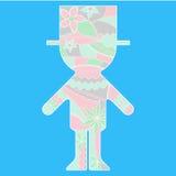 Silhueta simples do noivo pintada colorida ilustração do vetor