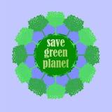 Silhueta verde da árvore com citações positivas Foto de Stock Royalty Free