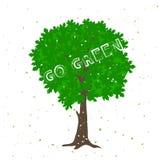 Silhueta verde da árvore com citações positivas Imagem de Stock Royalty Free