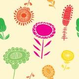A silhueta vibrante floresce o teste padrão sem emenda ilustração royalty free