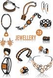Silhuetas 2 da jóia Imagem de Stock Royalty Free