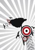 Silhuetas abstratas do pássaro Imagens de Stock