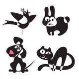 Silhuetas abstratas dos animais Imagens de Stock Royalty Free