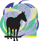 Silhuetas abstratas dos cavalos. Imagem de Stock Royalty Free