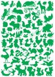 Silhuetas animais Fotos de Stock