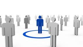 silhuetas 3d que giram ao redor azul ilustração royalty free