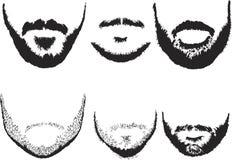 Silhuetas da barba dos homens Imagem de Stock