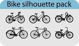 Silhuetas da bicicleta do vetor Fotos de Stock