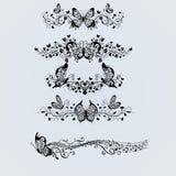 Silhuetas da borboleta Imagens de Stock Royalty Free