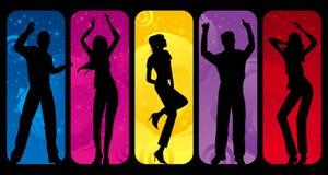 Silhuetas da dança ilustração stock