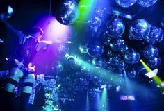 Silhuetas da dança da mulher Fotografia de Stock Royalty Free