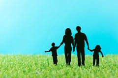 Silhuetas da família Imagem de Stock
