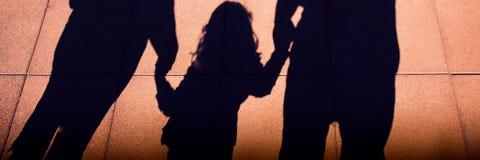 Silhuetas da família Fotografia de Stock