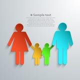 Silhuetas da família com sombra Fotos de Stock