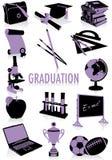 Silhuetas da graduação Fotos de Stock