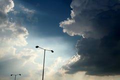 Silhuetas da lâmpada Fotos de Stock