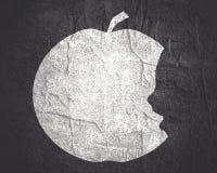 Silhuetas da maçã e da cabeça ilustração do vetor