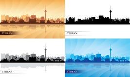 Silhuetas da skyline da cidade de Tehran ajustadas Foto de Stock Royalty Free