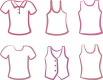 Silhuetas das camisas Imagens de Stock Royalty Free