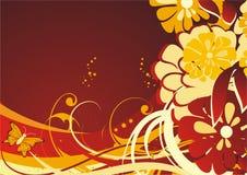 Silhuetas das cores e da borboleta Imagens de Stock Royalty Free