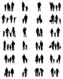 Silhuetas das famílias ilustração stock