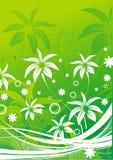 Silhuetas das folhas abstratas Imagem de Stock