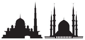 Silhuetas das mesquitas ilustração stock