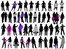 Silhuetas das mulheres Foto de Stock
