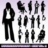 Silhuetas das mulheres de negócios ilustração royalty free