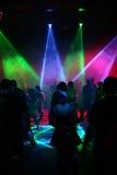 Silhuetas de adolescentes da dança Foto de Stock Royalty Free