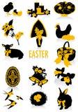 Silhuetas de Easter Imagem de Stock