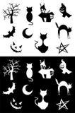 Silhuetas de Halloween Fotografia de Stock Royalty Free