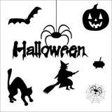 Silhuetas de Halloween Imagens de Stock Royalty Free