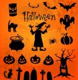 Silhuetas de Halloween Foto de Stock