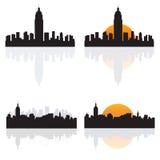 Silhuetas de NY Imagens de Stock