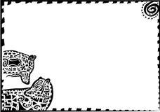 Silhuetas de um par de lobos com um teste padrão Ilustração Royalty Free