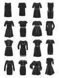 Silhuetas de vestidos do escritório Imagem de Stock