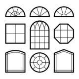 Silhuetas de Windows Imagens de Stock Royalty Free
