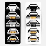 Silhuetas do automóvel de passageiros Imagens de Stock