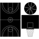Silhuetas do basquetebol Imagem de Stock