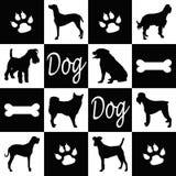 Silhuetas do cão Fotos de Stock