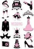 Silhuetas do casamento Fotografia de Stock Royalty Free