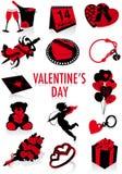Silhuetas do dia do Valentim Foto de Stock Royalty Free