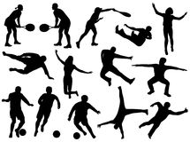 Silhuetas do esporte Imagem de Stock Royalty Free