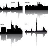 silhuetas do vetor da cidade alemão Fotos de Stock Royalty Free