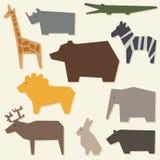 Silhuetas dos animais Fotografia de Stock