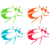 silhuetas dos besouros Imagem de Stock Royalty Free