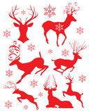 Silhuetas dos cervos Fotos de Stock Royalty Free