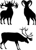 Silhuetas dos cervos Imagens de Stock Royalty Free
